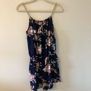 Dresses & Skirts - Floral Romper with Pockets